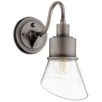 Quorum 732-37 Torrey 1 Light 13 inch Weathered Zinc Outdoor Wall Mount
