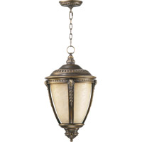 Quorum International Pemberton 1 Light Outdoor Hanging Lantern in Bronze Patina 7322-3839