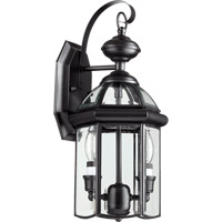 Quorum International Wellsley 2 Light Outdoor Wall Lantern in Gloss Black 733-2-15