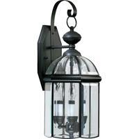 Quorum International Wellsley 3 Light Outdoor Wall Lantern in Gloss Black 733-3-15