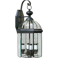 Quorum International Wellsley 4 Light Outdoor Wall Lantern in Gloss Black 733-4-15