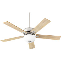 Quorum 73525-9165 Rothman 52 inch Satin Nickel with Walnut/Weathered Oak Blades Indoor Ceiling Fan