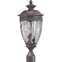 Quorum 7402-3-43 Georgia 3 Light 22 inch Etruscan Sienna Post Lantern