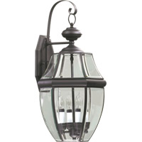 Quorum International Carrington 4 Light Outdoor Wall Lantern in Bronze 743-4-36