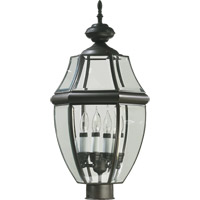 Carrington 4 Light 22 inch Bronze Post Lantern