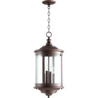 Mayfair 4 Light 13 inch Oiled Bronze Outdoor Pendant
