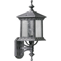 Huxley 1 Light 18 inch Rustic Silver Outdoor Wall Lantern