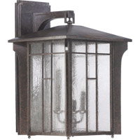 Quorum International Arts and Crafts 4 Light Outdoor Wall Lantern in Baltic Granite 7500-4-45