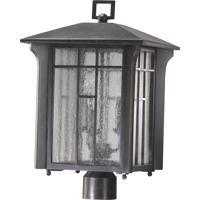 Quorum International Arts and Crafts 3 Light Post Lantern in Baltic Granite 7502-3-45