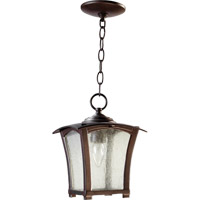 Quorum 7511-8-86 Gable 1 Light 8 inch Oiled Bronze Outdoor Hanging Lantern