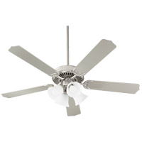 Quorum 7525-065 Capri IX 52 inch Satin Nickel with Satin Nickel/Walnut Blades Indoor Ceiling Fan