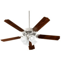Quorum 7525-165 Capri IX 52 inch Satin Nickel with Satin Nickel/Walnut Blades Indoor Ceiling Fan