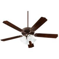 Quorum 7525-186 Capri IX 52 inch Oiled Bronze with Oiled Bronze/Walnut Blades Indoor Ceiling Fan