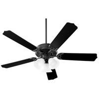 Capri X 52 inch Midnight Bronze with Matte Black and Weathered Oak Blades Ceiling Fan, Quorum Home