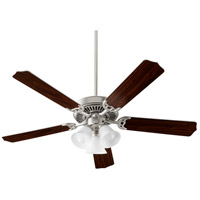 Quorum 7525-3065 Capri X 52 inch Satin Nickel with Reversible Silver and Walnut Blades Ceiling Fan