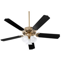 Quorum 7525-3080 Capri X 52 inch Aged Brass with Matte Black and Walnut Blades Ceiling Fan, Quorum Home
