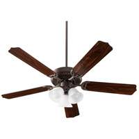 Quorum 7525-3086 Capri X 52 inch Oiled Bronze with Reversible Oiled Bronze and Walnut Blades Ceiling Fan