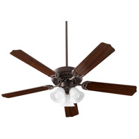 Quorum 7525-3144 Capri X 52 inch Toasted Sienna with Reversible Toasted Sienna and Walnut Blades Ceiling Fan