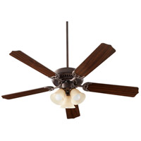 Quorum 7525-3344 Capri X 52 inch Toasted Sienna with Reversible Toasted Sienna and Walnut Blades Ceiling Fan