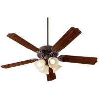 Quorum 7525-344 Capri IX 52 inch Toasted Sienna with Toasted Sienna/Walnut Blades Indoor Ceiling Fan