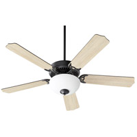 Quorum 7525-9059 Capri VIII 52 inch Midnight Bronze with Matte Black and Weathered Oak Blades Ceiling Fan