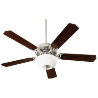 Quorum 7525-9065 Capri VIII 52 inch Satin Nickel with Satin Nickel/Walnut Blades Indoor Ceiling Fan