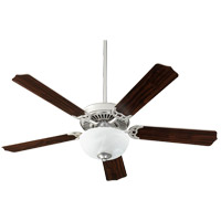 Quorum 7525-9265 Capri VIII 52 inch Satin Nickel with Satin Nickel/Walnut Blades Indoor Ceiling Fan