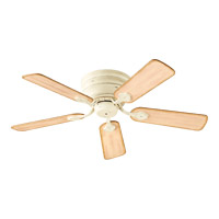 Barclay 44 inch Persian White with Distressed Weathered Pine Blades Hugger Ceiling Fan
