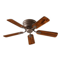 Quorum 75445-86 Barclay 44 inch Oiled Bronze with Reversible Oiled Bronze and Walnut Blades Hugger Ceiling Fan
