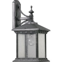 Quorum 7561-72 Huxley 1 Light 20 inch Rustic Silver Outdoor Wall Lantern