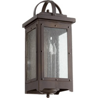 Quorum 757-3-86 Riverdale 3 Light 21 inch Oiled Bronze Outdoor Wall Lantern