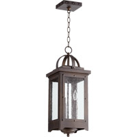 Quorum 758-3-86 Riverdale 3 Light 9 inch Oiled Bronze Outdoor Pendant