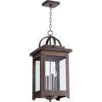 Quorum 758-4-86 Riverdale 4 Light 12 inch Oiled Bronze Outdoor Pendant