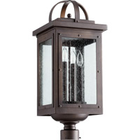 Quorum 759-4-86 Riverdale 4 Light 23 inch Oiled Bronze Post Lantern