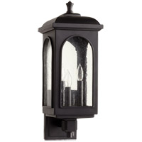 Quorum 7603-3-69 Fuller 3 Light 8 inch Noir Outdoor Wall Lantern