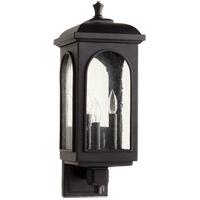 Quorum 7603-3-69 Fuller 3 Light 8 inch Noir Outdoor Wall Lantern
