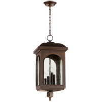 Quorum 7604-4-86 Fuller 11 inch Oiled Bronze Outdoor Pendant