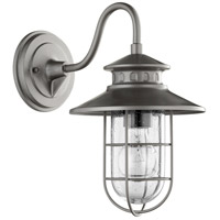 Quorum 7696-3 Moriarty 1 Light 13 inch Graphite Outdoor Wall Lantern Small