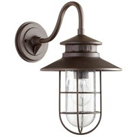 Quorum 7697-86 Moriarty 1 Light 16 inch Oiled Bronze Outdoor Wall Lantern Medium