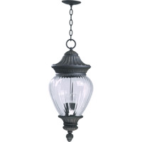 Quorum International Dover 3 Light Outdoor Hanging Lantern in Charcoal 7708-3-93