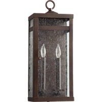 Quorum 772-2-86 Clermont 2 Light 19 inch Oiled Bronze Outdoor Wall Lantern