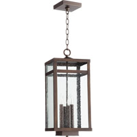 Quorum 773-4-86 Clermont 4 Light 9 inch Oiled Bronze Outdoor Pendant