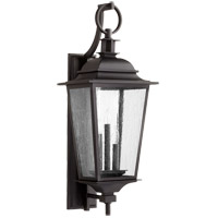 Quorum 7730-3-69 Pavilion 3 Light 31 inch Noir Outdoor Wall Lantern
