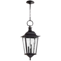 Pavilion 3 Light 12 inch Noir Outdoor Hanging Lantern