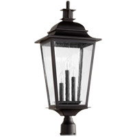 Quorum 7732-3-69 Pavilion 3 Light 28 inch Noir Outdoor Post Lantern