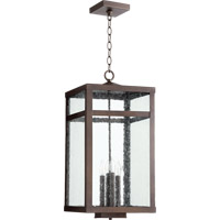 Quorum 774-4-86 Clermont 4 Light 12 inch Oiled Bronze Outdoor Pendant
