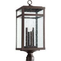 Quorum 775-4-86 Clermont 4 Light 25 inch Oiled Bronze Post Lantern