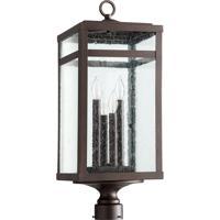 Quorum 775-4-86 Clermont 4 Light 25 inch Oiled Bronze Post Lantern