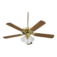 Quorum International Capri VI 3 Light Ceiling Fan (Blades Not Included) in Polished Brass 77520-1602