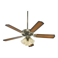 Quorum International Capri VI 3 Light Ceiling Fan in Antique Flemish 77520-1722